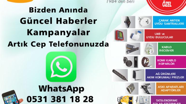 WhatsApp Numaramız Hizmetinizde