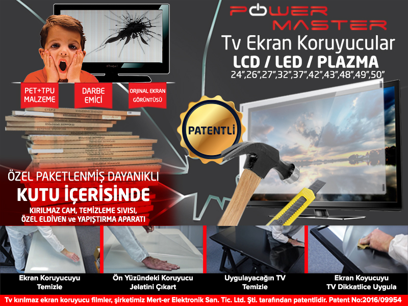 lcd led tv ekran koruyucu film