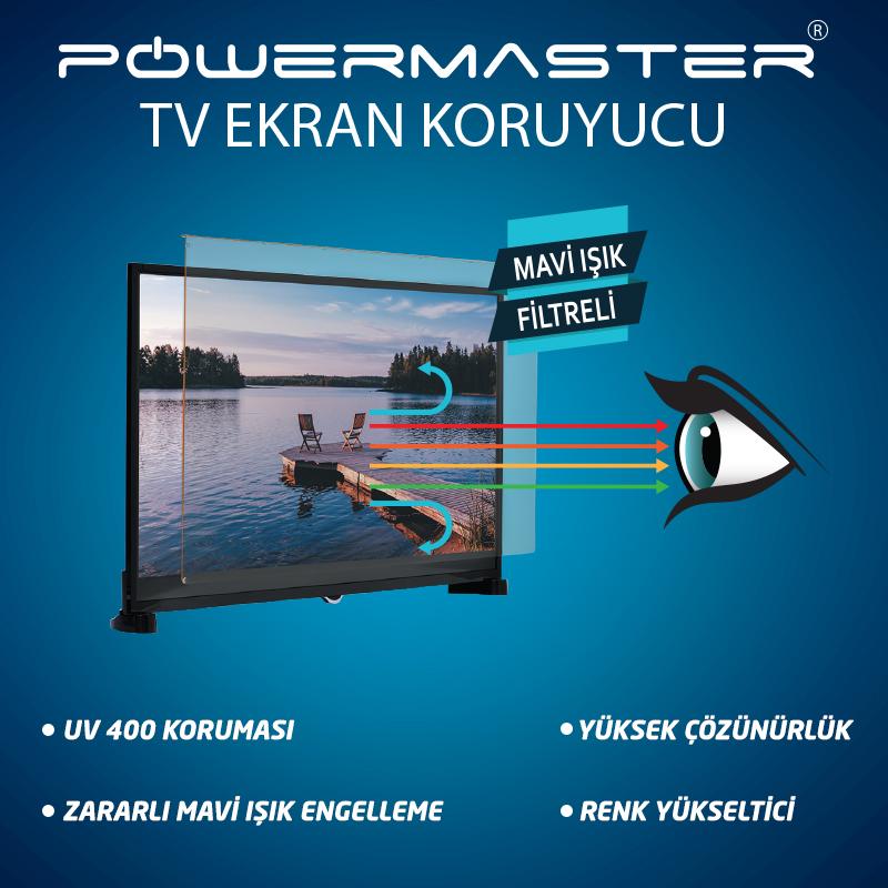 Mavi ışık filtreli tv ekran koruyucu