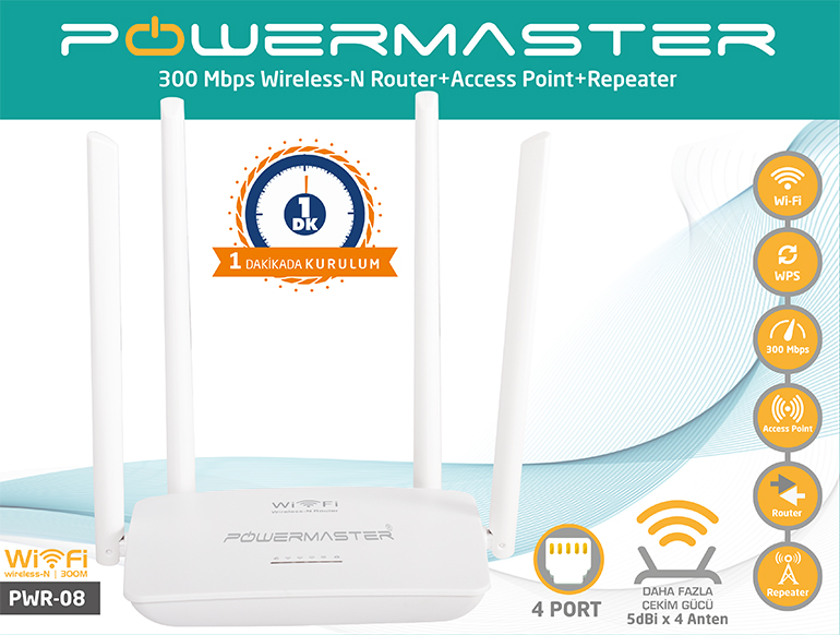 Powermaster PWR-08 Access Point Kurulum