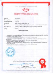 Mert-er Elektronik hizmet yeterlilik belgesi