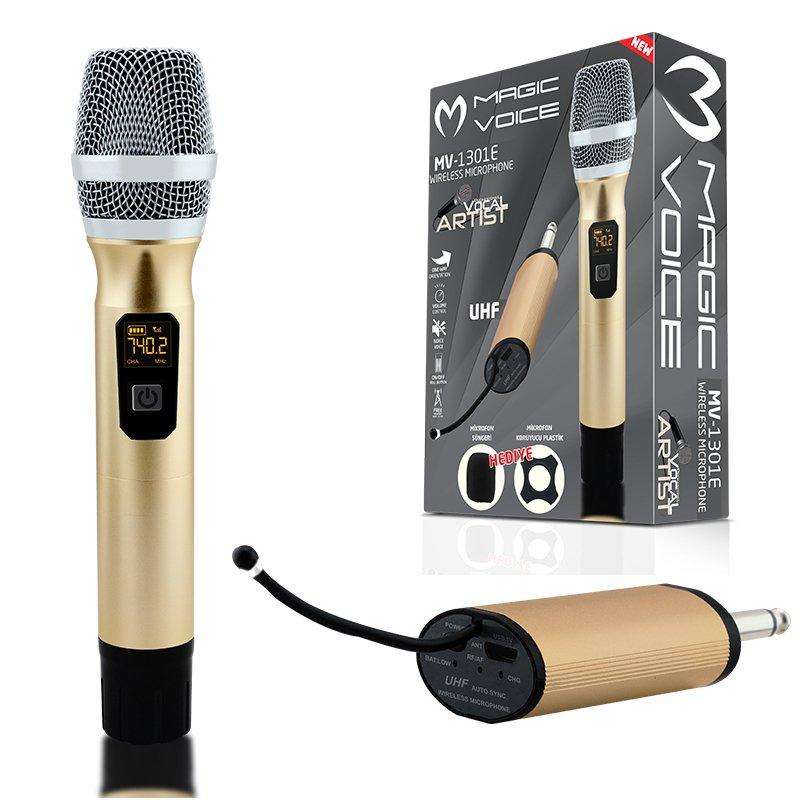 Magicvoice MV-1301E Kablosuz 1 El Mikrofon